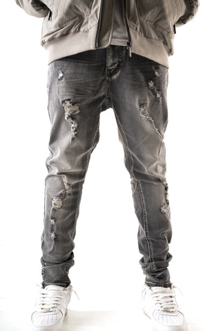 Premium Essential Slim Taper Jean - Ice Grey