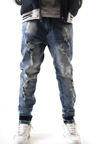 Premium Essential Slim Taper Jean - Mid Wash