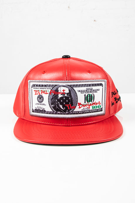 Snap Back Hat - Benjamins - Red