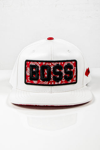 Snap Back Hat - Boss - White