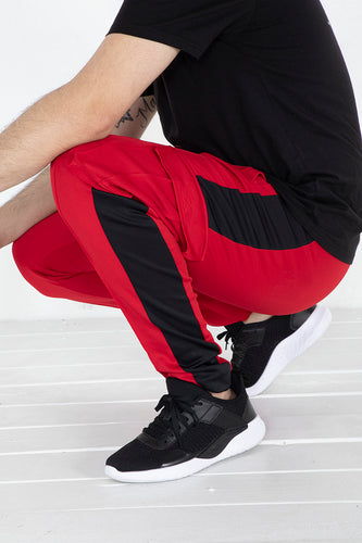 Cargo Track Pants - Red/Black