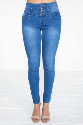 4-Button Colombian Jeans - MED