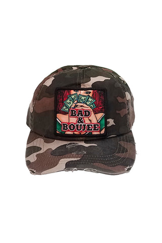 Bad & Boujee - Dad Hat - Camo