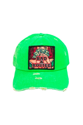 Bad & Boujee - Dad Hat - Lime