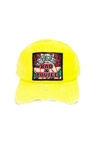 Bad & Boujee - Dad Hat - Neon Yellow