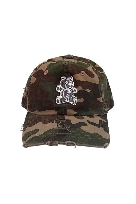 Stitched Bear - Dad Hat - Camo
