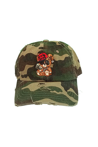 Cash Bear - Dad Hat - Camo