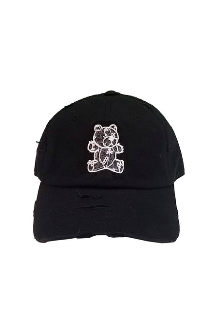 Stitched Bear - Dad Hat - Black