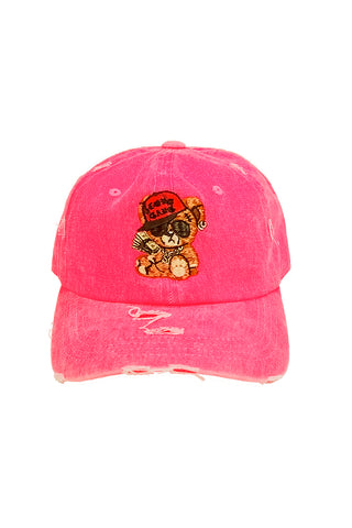 Cash Bear - Dad Hat - Neon Pink