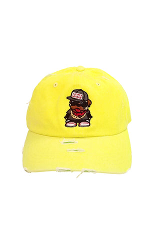Drip Pug G - Dad Hat - Neon Yellow