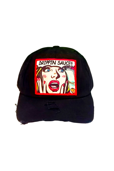 Drippin Sauce Comic - Dad Hat - Black