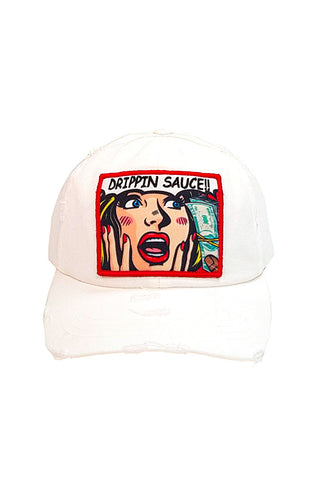 Drippin Sauce Comic - Dad Hat - White