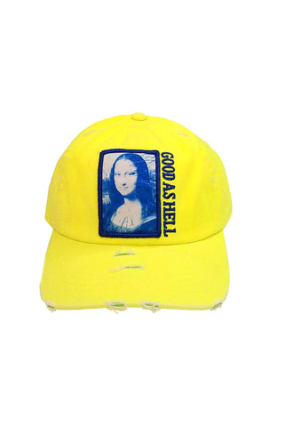 Mona Lisa - Dad Hat - Neon Yellow