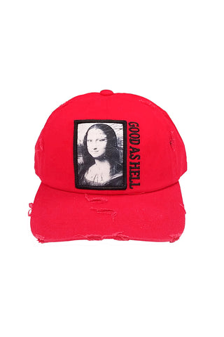Mona Lisa - Dad Hat - Red