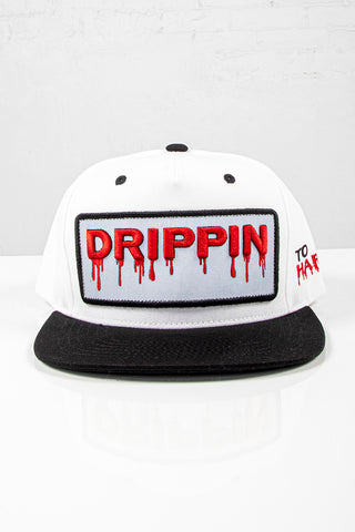 Snap Back Hat - Drippin - White