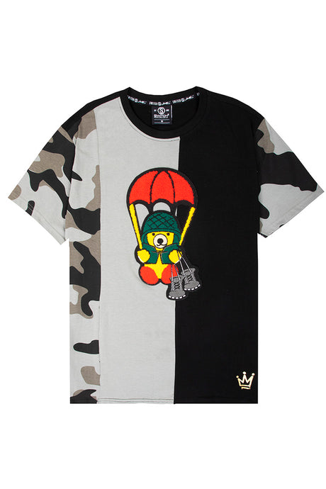 Cut & Sew Camo Bear T-Shirt - City Camo