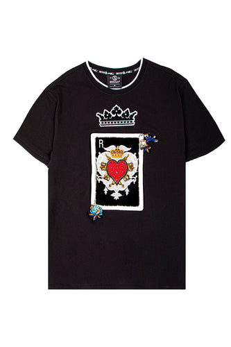 Royal Hearts Luxe T-Shirt - Black