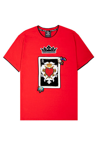 Royal Hearts Luxe T-Shirt - Red