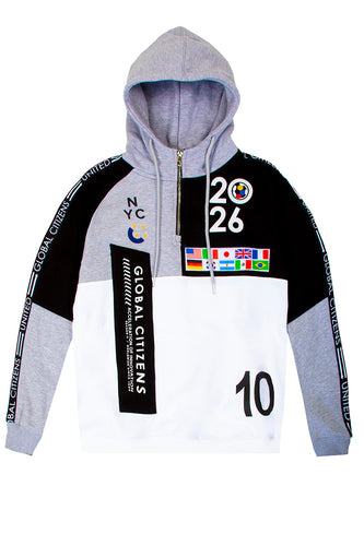 Global Citizens 2026 Colorblock Hoodie - H.Grey