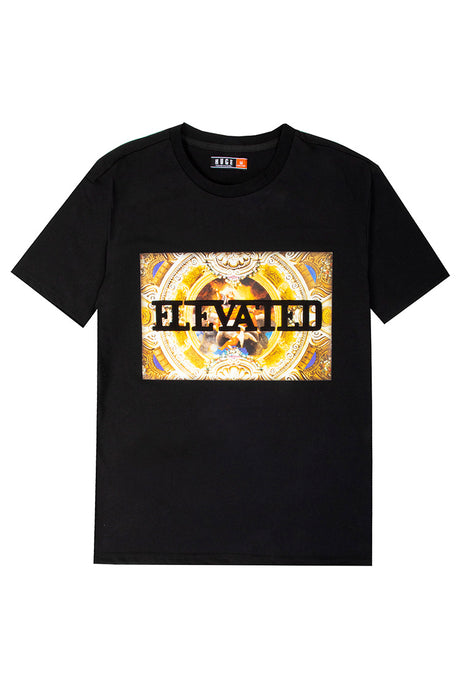 3D Embossed Elevated T-Shirt - Black
