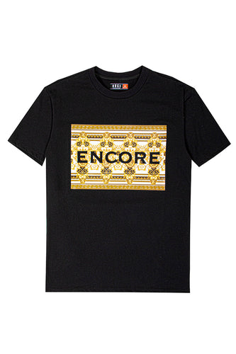 3D Embossed Encore T-Shirt - Black
