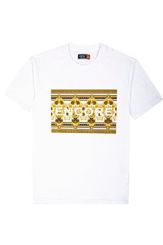 3D Embossed Encore T-Shirt - White