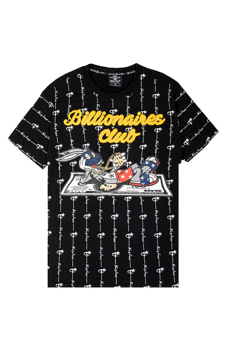 Billionaires Club Bunny Tee - Black