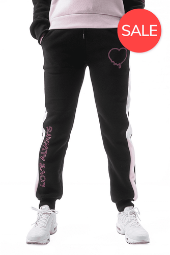 Dripping Love Sweatpants - Black/White