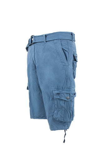 Vintage Washed Cargo Shorts - Beach Blue