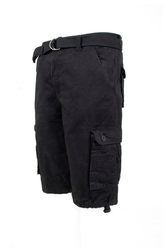 Core Essential Cargo Shorts - Black