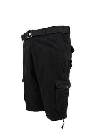 Vintage Washed Cargo Shorts - Black