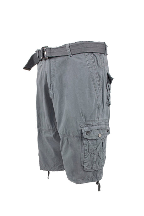 Vintage Washed Cargo Shorts - Grey