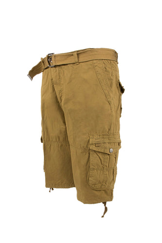 Vintage Washed Cargo Shorts - Khaki