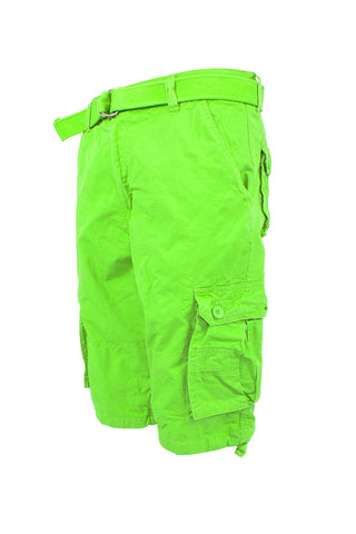 Core Essential Cargo Shorts - Lime