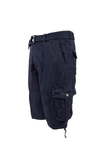 Vintage Washed Cargo Shorts - Navy