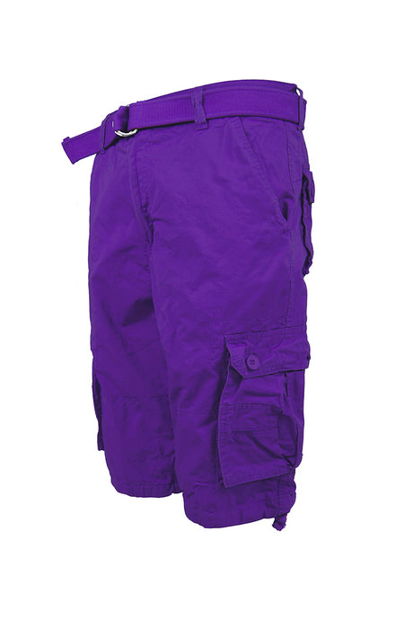 Core Essential Cargo Shorts - Purple