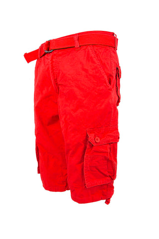 Core Essential Cargo Shorts - Red