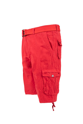 Vintage Washed Cargo Shorts - Red
