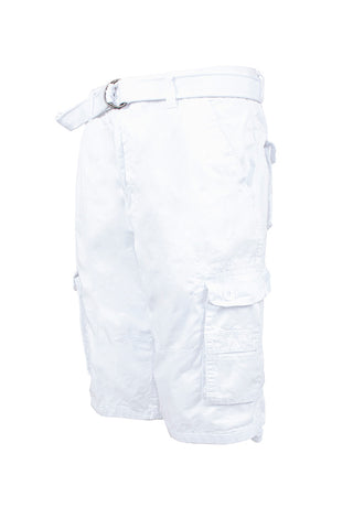 Core Essential Cargo Shorts - White