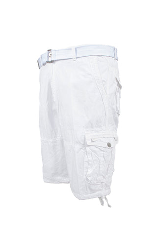 Vintage Washed Cargo Shorts - White