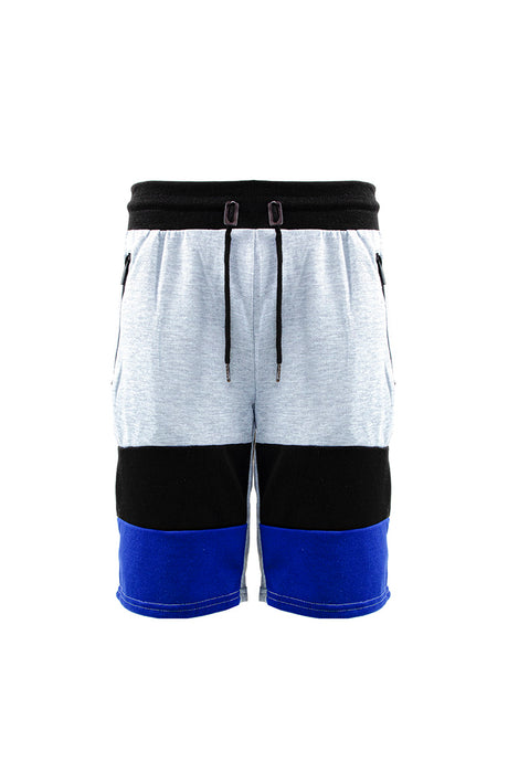 French Terry Colorblock Short - H.Grey