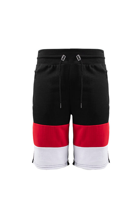 French Terry Colorblock Short - Black