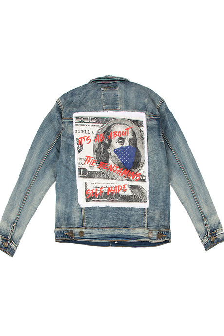 Denim Jacket with Self Made Benjamin - Vintage
