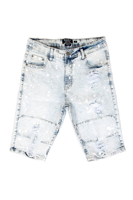 Rip & Tear Denim Shorts - Ice Wash