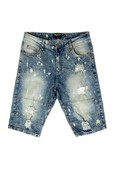 Rip & Tear Denim Shorts - Vintage Wash