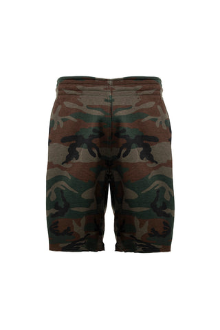 French Terry Cut Off Sweat Short - Camo