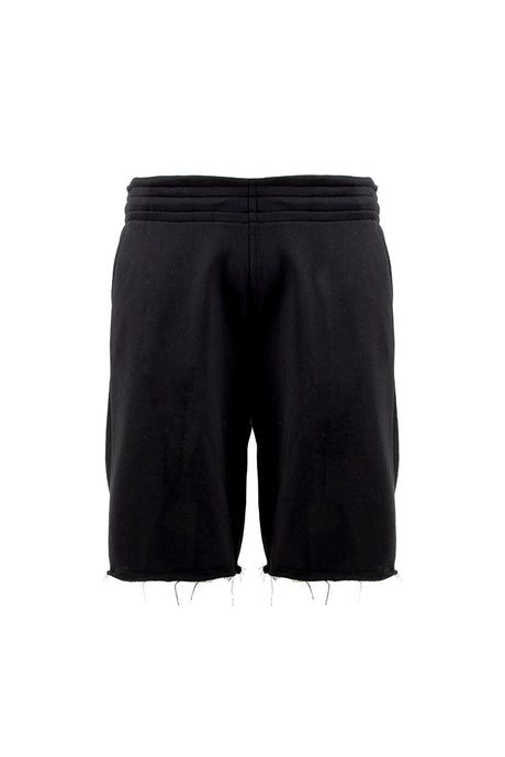 French Terry Cut Off Sweat Short - Black
