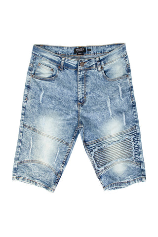 Destructed Denim Shorts - Medium Acid