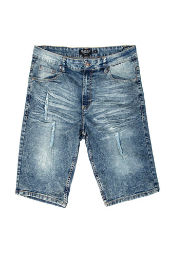 Rip & Tear Denim Shorts - Vintage