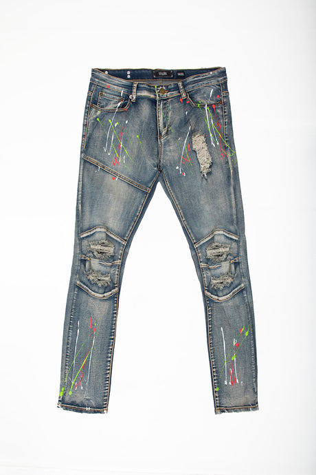 Skinny Jeans with Paint Splatter - Vintage